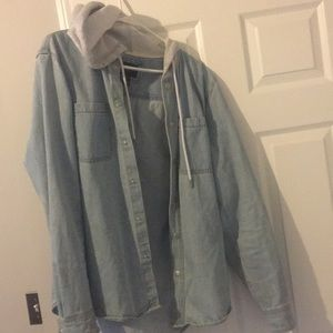 Men's Forever 21 Jean Jacket with Hoodie